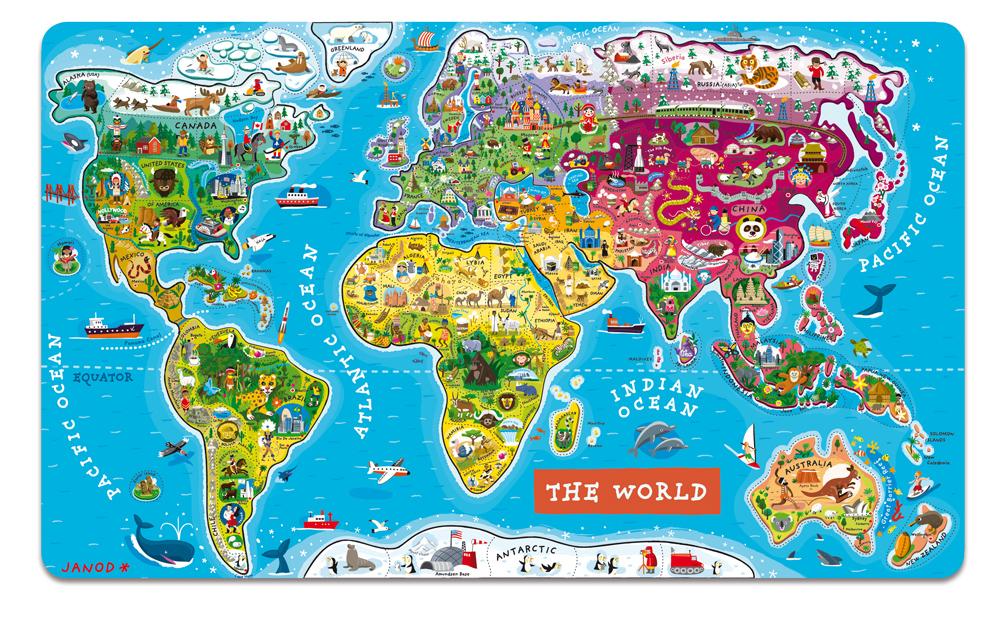 巨型英文版世界地图