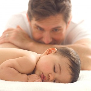 father-watching-baby-sleep